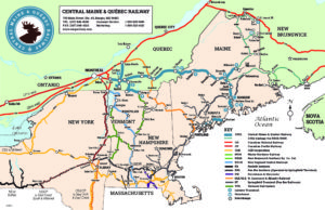 map of quebec and maine Cmq Map 20160601 Central Maine Quebec Railway map of quebec and maine